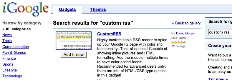 Pubmed + RSS + iGoogle = Easy Lit Updates