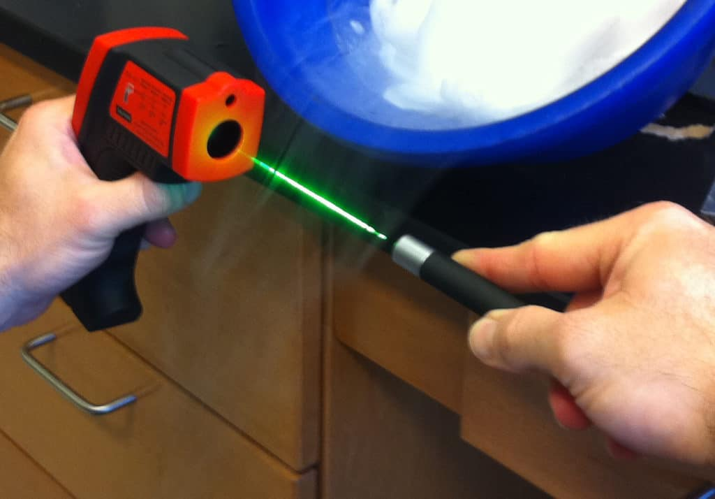 Infrared Thermometers as Infrared Laser Detectors
