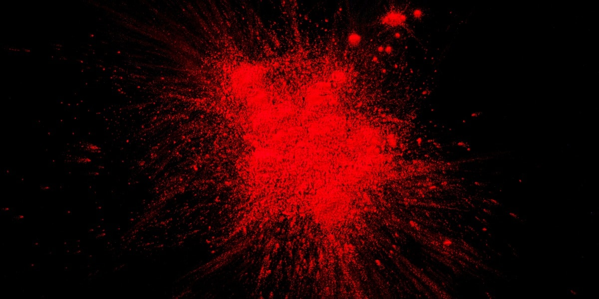 Image of a red powder to represent the color of congo red stain