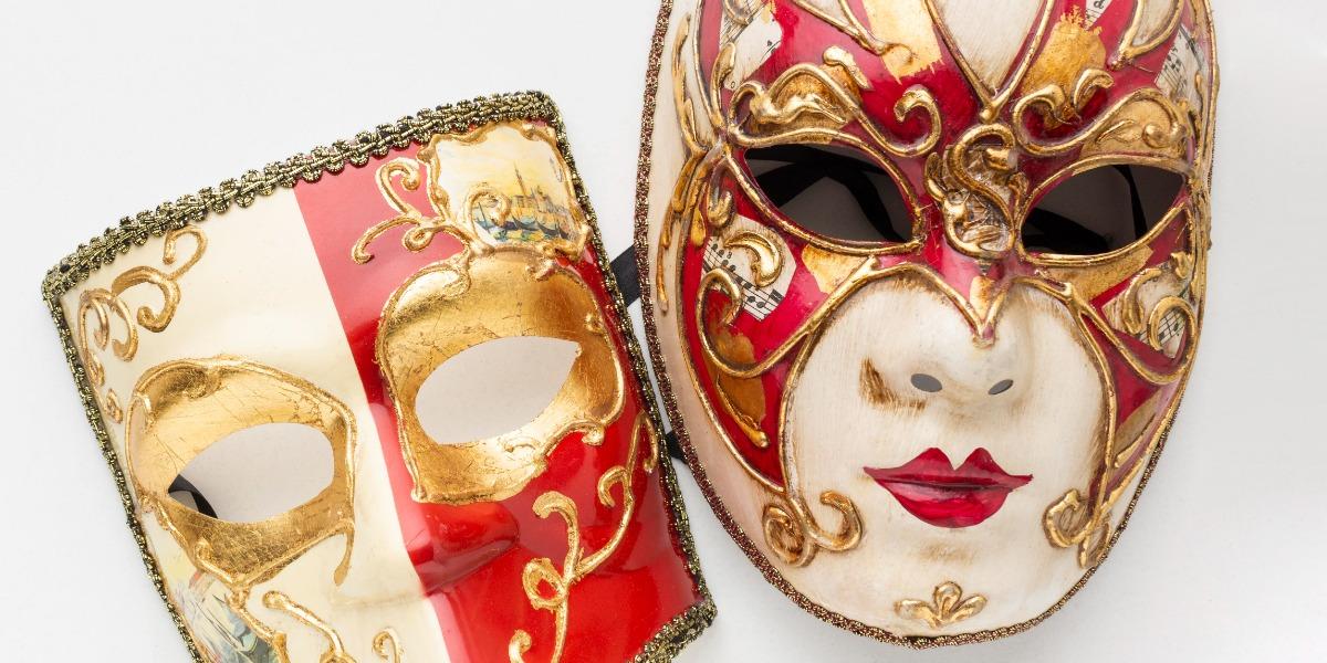 image of masks to represent unmasking antigens