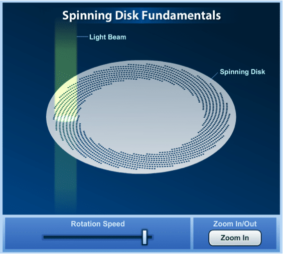figure4: spinning disc fundamentals / Live-cell imaging