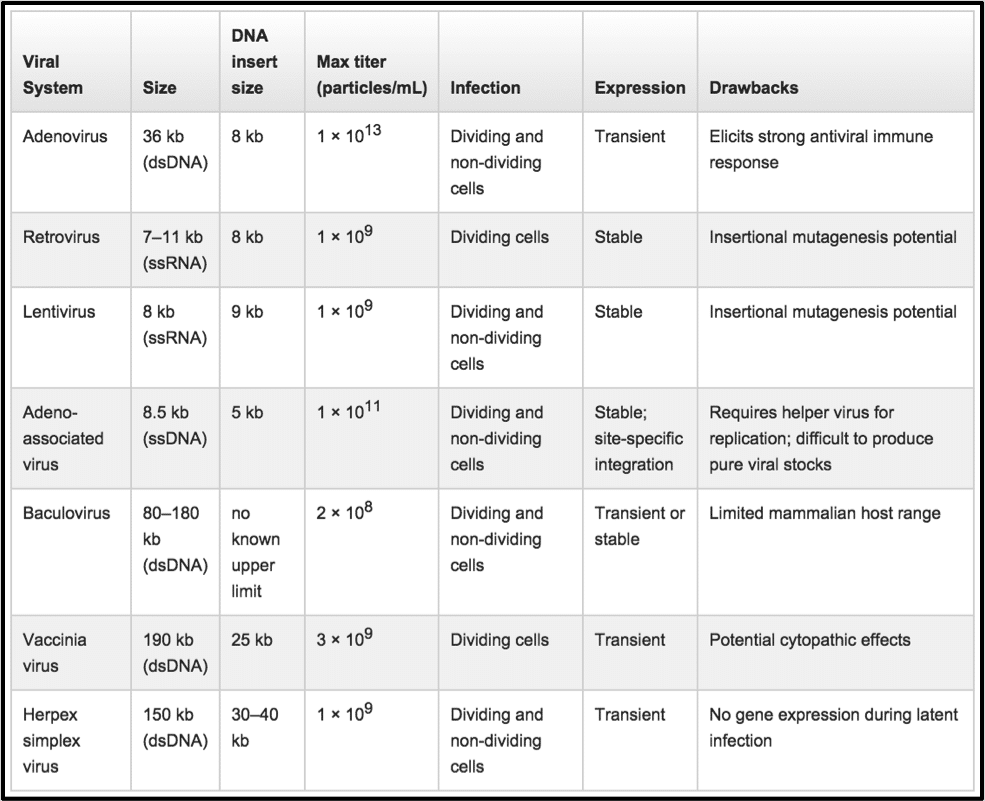 Comparing Viral Vector Expression Systems