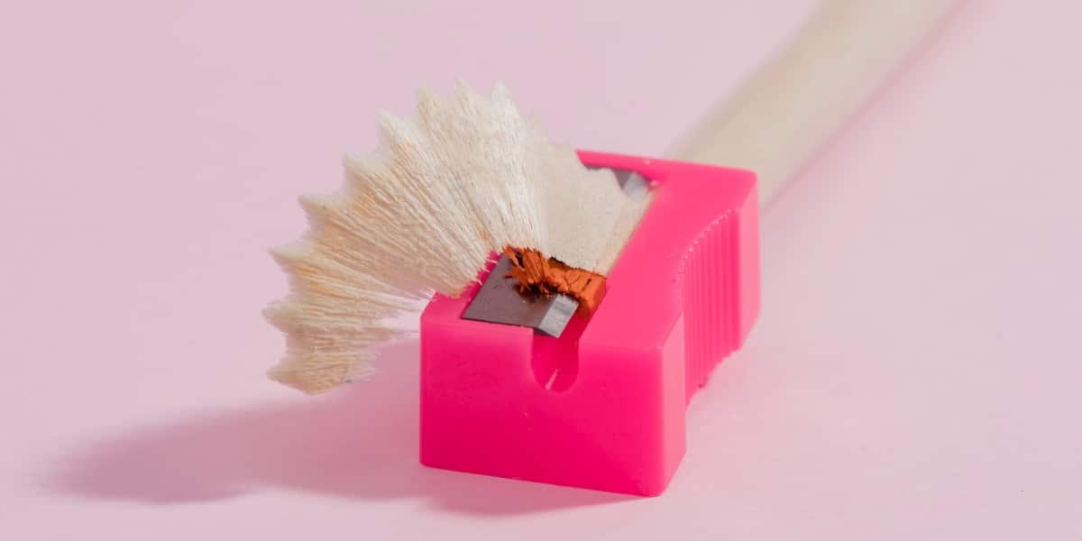 Image of a pencil sharpener to depict sharpening western blot image by handling non-specific binding