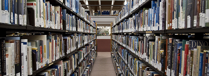 Library aisle image