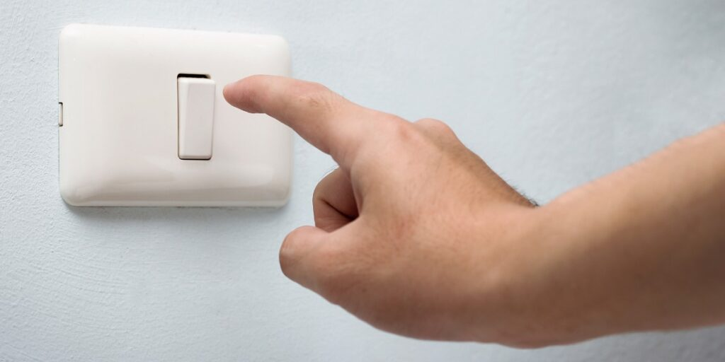 A light switch depiciting how CRISPRa allows you to swtich gene expression on
