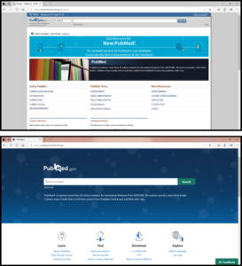 Comparing old and new PubMed.