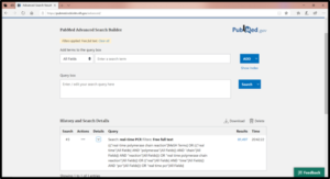 Search details in new PubMed