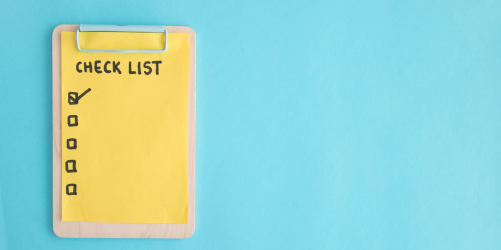 Checklist depicting list of dos and don'ts