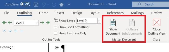 Using Word to Write your Thesis: Creating a Master Document
