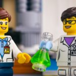 Two lego scientists to represent someone doing a PhD