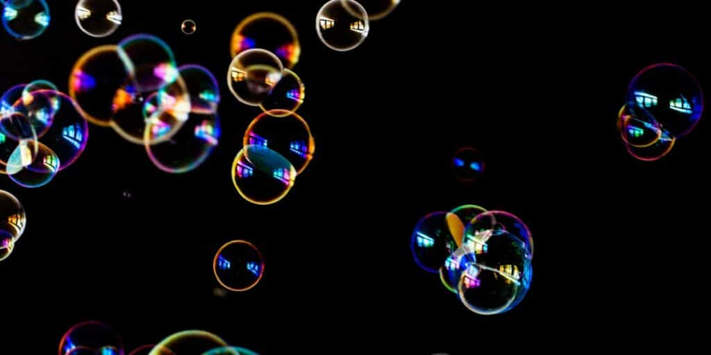Image of soap bubbles to represent working with membrane proteins