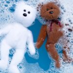 Image of teddy bears in bubbles as a funny wa to represent the need to remove excess detergent from membrane proteins