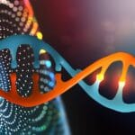 An image of DNA to depict the broad range of available functional genomics screening technologies.